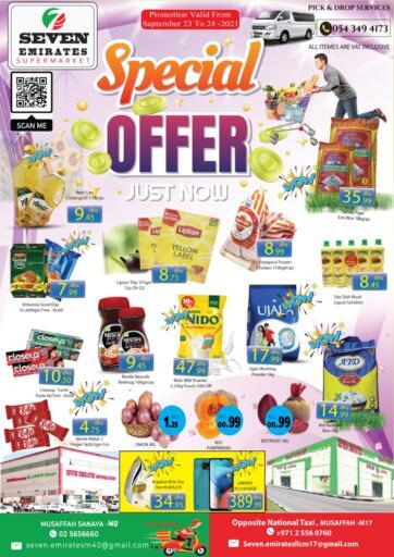 UAE - Abu Dhabi Seven Emirates Supermarket offers in D4D Online. Special Offer. Shop More Save Less From Seven Emirates Supermarket. Offer Valid Till 24th September 2021,  Enjoy Shopping!!!. Till 24th September