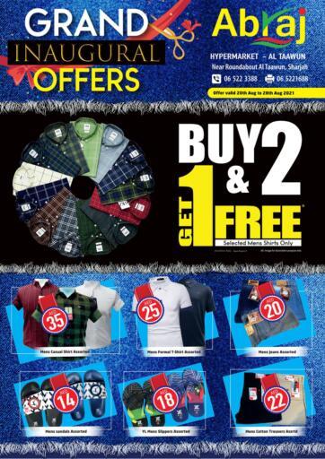 UAE - Sharjah / Ajman Abraj Hypermarket offers in D4D Online. Grand Inaugural Offers. . Till 28th August