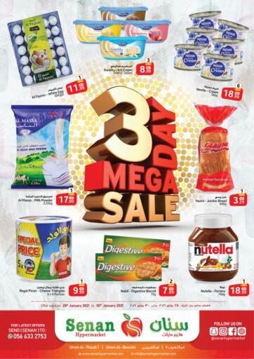 UAE - Umm al Quwain Senan Hypermarket offers in D4D Online. 3 Day Mega Sale. . Till 30th January