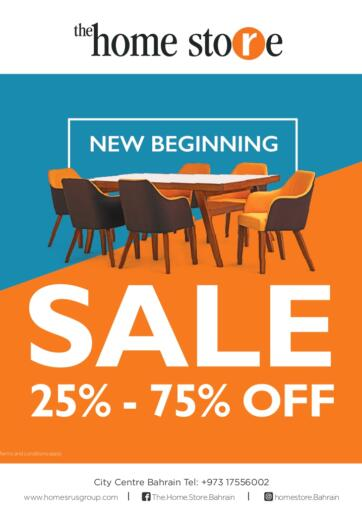 Bahrain Home Store offers in D4D Online. Sale-25 to 75% off  on Everything   @ The Home Store on all furniture & home accessories including new arrivals. . Till 09th December
