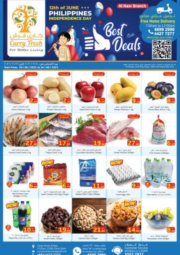 Qatar - Al-Shahaniya Carry Fresh Hypermarket offers in D4D Online. Best Deals. Now get this  Best Deals Offers on all products from Carry Fresh Hypermarket. hurry now. offer valid Till  16th June. Enjoy Shopping!!!. Till 16th June