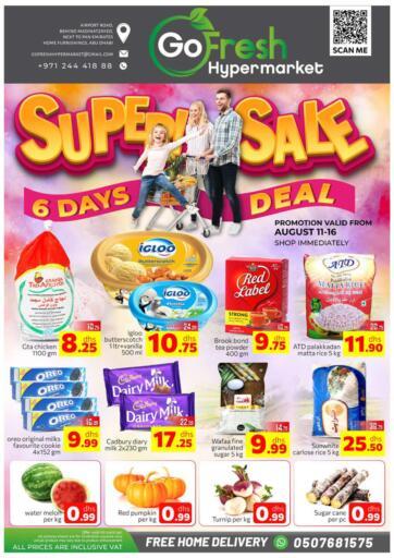 UAE - Abu Dhabi GO FRESH HYPERMARKET LLC offers in D4D Online. Super Sale. . Till 16th August