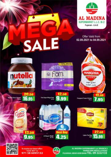 UAE - Fujairah Al Madina Supermarket LLC offers in D4D Online. Mega Sale. . Till 4th September