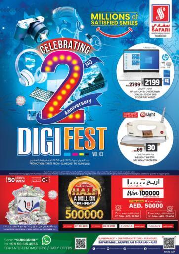 UAE - Sharjah / Ajman Safari Hypermarket  offers in D4D Online. Safari 2nd Anniversary Digi Fest. . Till 30th September