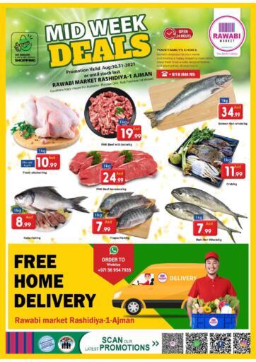 UAE - Sharjah / Ajman Rawabi Market Ajman offers in D4D Online. Midweek Deals - Rashidiya. Midweek Deals Now From Rawabi Market. Offer Valid Till 31st August 2021.  Enjoy Shopping!!!. Till 31st August
