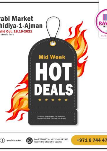 UAE - Sharjah / Ajman Rawabi Market Ajman offers in D4D Online. Midweek Hot Deal-Rashidiya. . Till 19th October