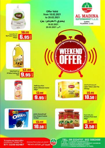 UAE - Fujairah Al Madina Supermarket LLC offers in D4D Online. Weekend Offer. . Until Stock Last