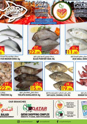 Qatar - Doha Al Baladi Group offers in D4D Online. Summer Festival Fish. . Only On 12th August
