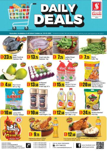 Qatar - Al Wakra Safari Hypermarket offers in D4D Online. Daily Deals. . Only On 25th March