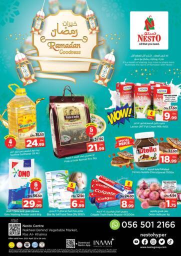 UAE - Ras al Khaimah Nesto Hypermarket offers in D4D Online. Ras Al Khaima. . Till 24th April