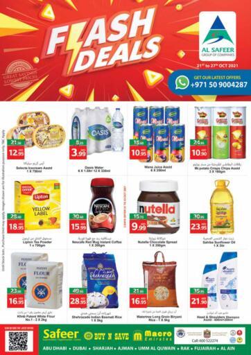 UAE - Sharjah / Ajman Safeer Hyper Markets offers in D4D Online. Flash Deals. . Till 27th October