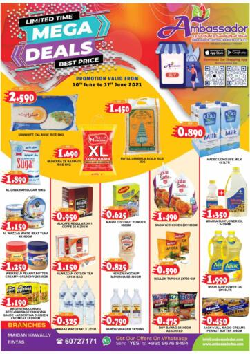 Kuwait Ambassador Supermarkets & Hypermarkets offers in D4D Online. Mega Deals. . Till 17th  June