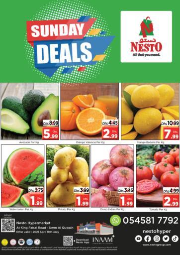 UAE - Umm al Quwain Nesto Hypermarket offers in D4D Online. Umm Al Quwwain. . Only On 18th April