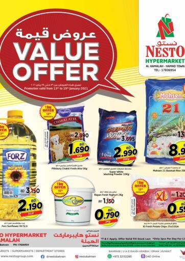 Bahrain NESTO  offers in D4D Online. Value Offer. . Till 19th January
