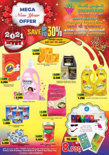 Kuwait Greenland Hypermarket offers in D4D Online. Mega New Year Offer. . Till 6th January