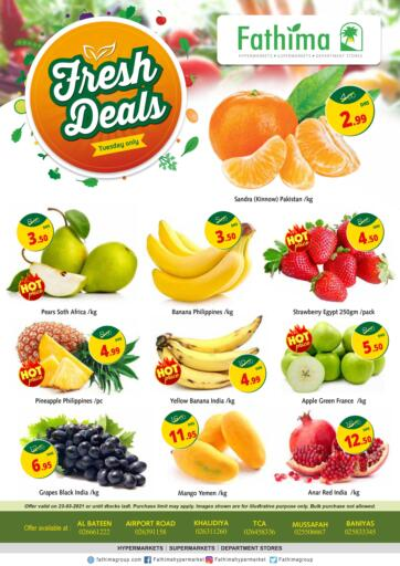UAE - Abu Dhabi Fathima Hypermarkets & Supermarkets offers in D4D Online. Fresh Deals. . Only On 23rd March
