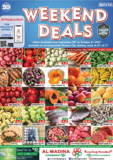 UAE - Abu Dhabi Al Madina Hypermarket offers in D4D Online. Weekend Deals. . Till 02nd October