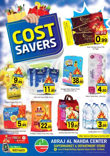 UAE - Sharjah / Ajman Abraj Hypermarket offers in D4D Online. Cost Savers@ Al Nahda Center. . Till 2nd October