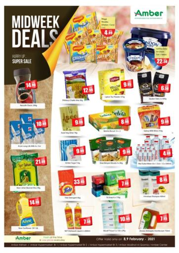 UAE - Sharjah / Ajman Amber Al Madina Hypermarket offers in D4D Online. Midweek Deals. . Till 9th February