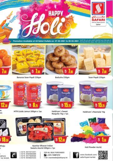 Qatar - Al Daayen Safari Hypermarket offers in D4D Online. Happy Holi. . Till 28th March