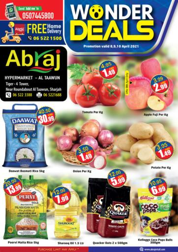 UAE - Sharjah / Ajman Abraj Hypermarket offers in D4D Online. Wonder Deals. . Till 10th April