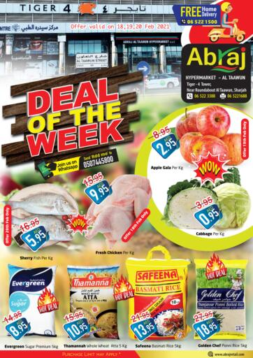 UAE - Sharjah / Ajman Abraj Hypermarket offers in D4D Online. Deal Of The Week. . Till 20th February