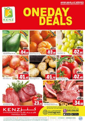 UAE - Sharjah / Ajman Kenz Hypermarket offers in D4D Online. One Day Deals. . Only On 7th April