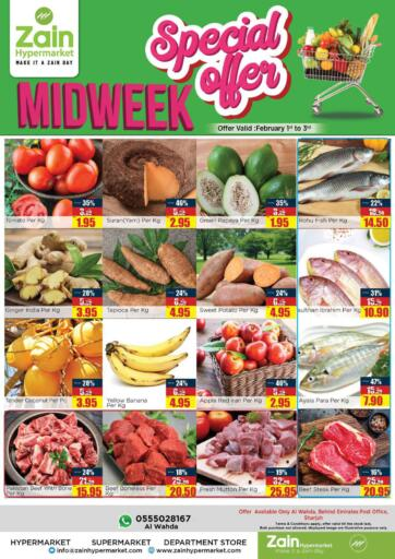 UAE - Sharjah / Ajman Zain Hypermarket offers in D4D Online. Midweek Special Offer. Midweek Special Offer!! Get your favorite products at the best prices from Zain Hypermarket. Offers Going For Groceries, Fresh Foods, Home Needs etc  This offer is valid Till 03rd February 2021. Keep Shopping!!. Till 03rd February