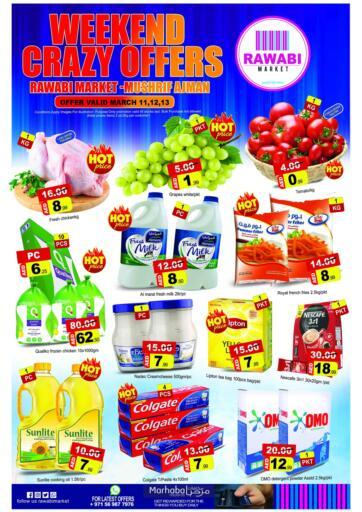 UAE - Sharjah / Ajman Rawabi Market Ajman offers in D4D Online. Mushrif, Ajman. . Till 13th March