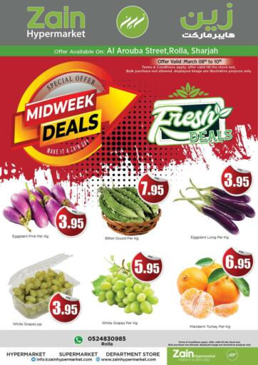 UAE - Sharjah / Ajman Zain Hypermarket offers in D4D Online. Midweek Deals @ Rolla Sharjah. . Till 10th March