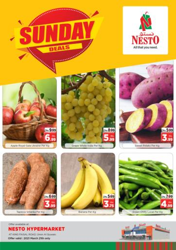 UAE - Umm al Quwain Nesto Hypermarket offers in D4D Online. Umm Al Quwain. Exciting Offers Are Waiting For You At Nesto Hypermarket. Rush Now To Get Everything At Best Price. Offer Only On 21st March 2021.  Enjoy Shopping!!!. Only On 21st March