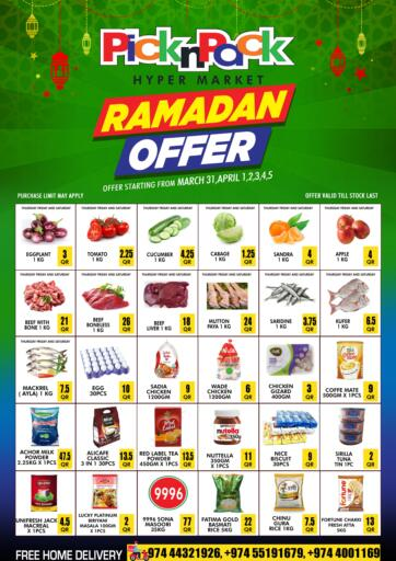 Qatar - Al Khor Pick n Pack offers in D4D Online. Ramadan Offer. Ramadan Offer Are Available At Pick n Pack. Offers Are Valid Till  05th April. Enjoy Shopping!!. Till 05th April