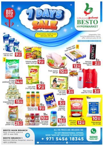 UAE - Abu Dhabi Besto Hypermarket offers in D4D Online. 7 Days Sale. . Till 26th January