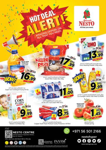 UAE - Ras al Khaimah Nesto Hypermarket offers in D4D Online. Ras Al Khaima. Enjoy Shopping With Nesto Hypermarket, With Their Exciting Offer Available On Varieties of Products Till 17th March. Happy Shopping!!!!. Till 17th March