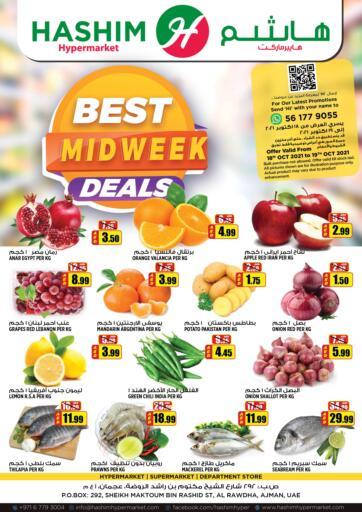 UAE - Sharjah / Ajman Hashim Hypermarket offers in D4D Online. Best Mid Week Deals. Best Mid Week Deals! For You At Hashim Hypermarket. Get Your Products At Exiting Offer. Valid Till 19th October 2021.  Enjoy Shopping!!!. Till 19th October