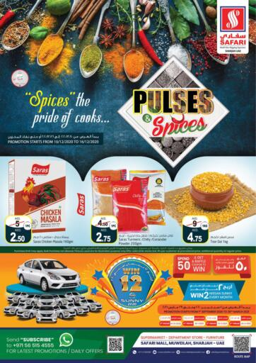 UAE - Dubai Safari Hypermarket  offers in D4D Online. Pulses & Spices.