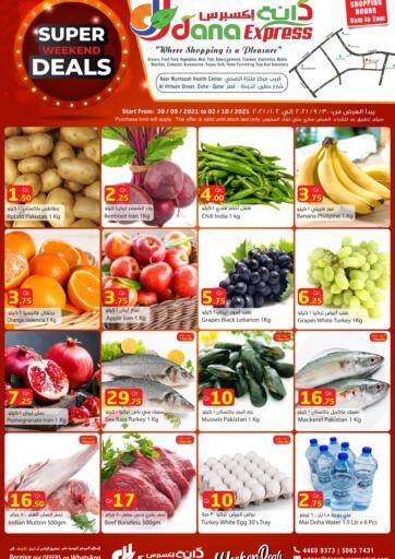 Qatar - Al Daayen Dana Express offers in D4D Online. Super Weekend Deals. . Till 02nd October
