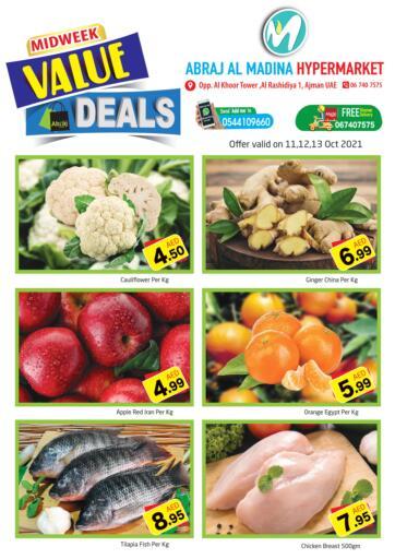 UAE - Sharjah / Ajman Abraj Hypermarket offers in D4D Online. Midweek Value Deals @ Rashidiya. . Till 13th October
