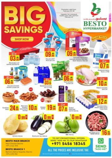 UAE - Abu Dhabi Besto Hypermarket offers in D4D Online. Big Savings. . Till 9th February