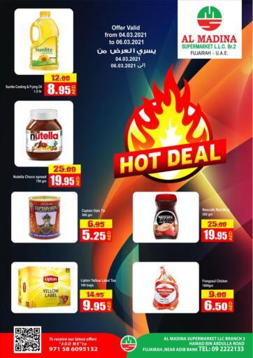 UAE - Fujairah Al Madina Supermarket LLC offers in D4D Online. Hot Deal. . Till 06th March