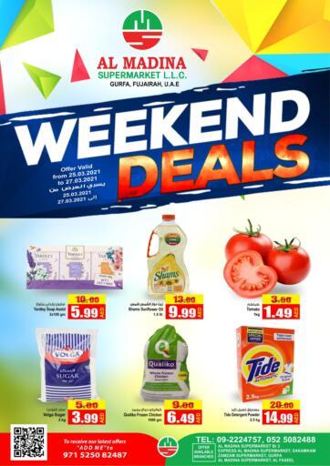 UAE - Fujairah Al Madina Supermarket LLC offers in D4D Online. Weekend Deals. . Till 27th March