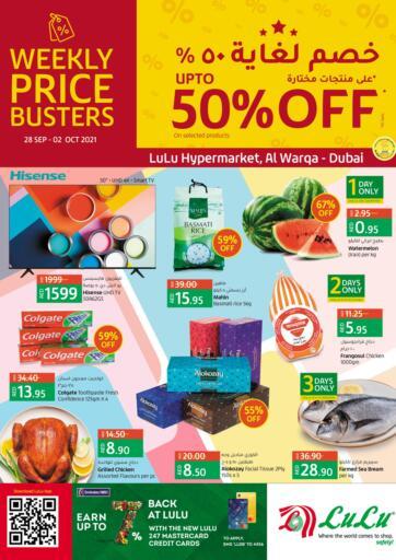 UAE - Ras al Khaimah Lulu Hypermarket offers in D4D Online. UP TO 50%OFF @ Al Warqa. . Till 2nd October
