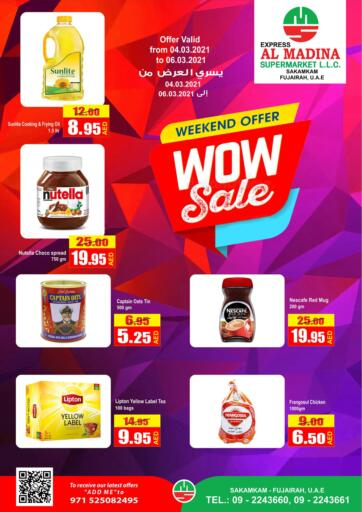 UAE - Fujairah Al Madina Supermarket LLC offers in D4D Online. Weekend Offer @ Sakamkam.