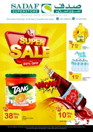 UAE - Abu Dhabi Sadaf Superstore offers in D4D Online. Super Sale. . Till 15th April