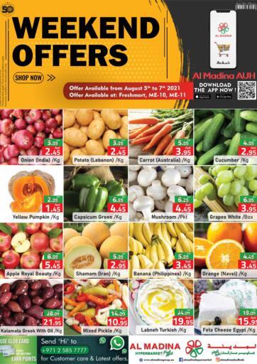 UAE - Abu Dhabi Al Madina Hypermarket offers in D4D Online. Weekend Offers @ ME-10, ME-11. . Till 7th August