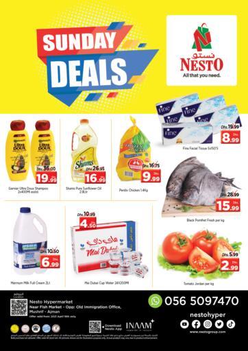 UAE - Sharjah / Ajman Nesto Hypermarket offers in D4D Online. Mushrif, Ajman. . Only On 18th April