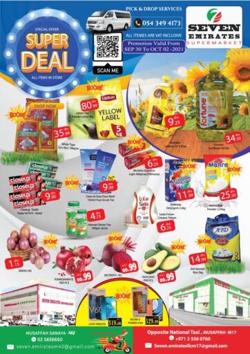 UAE - Abu Dhabi Seven Emirates Supermarket offers in D4D Online. Super Deals. . Till 2nd October