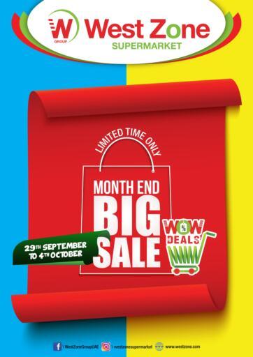 UAE - Sharjah / Ajman West Zone Supermarket offers in D4D Online. Month End Big Sale. . Till 4th October