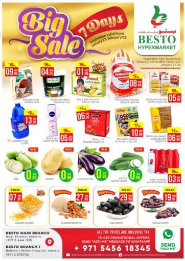 UAE - Abu Dhabi Besto Hypermarket offers in D4D Online. Big Sale 7 Days. . Till 2nd February