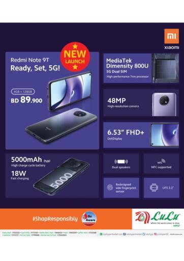 Bahrain LuLu Hypermarket offers in D4D Online. Redmi Note 9T @ Lulu Bahrain. . Until Stock Last